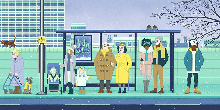Bus Stop (Winter)