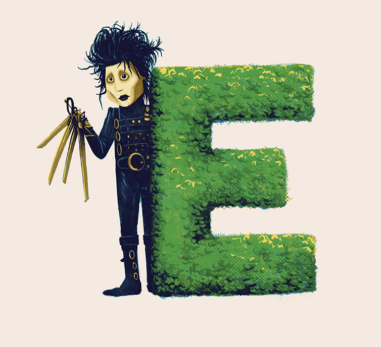 E is for Edward Scissorhands