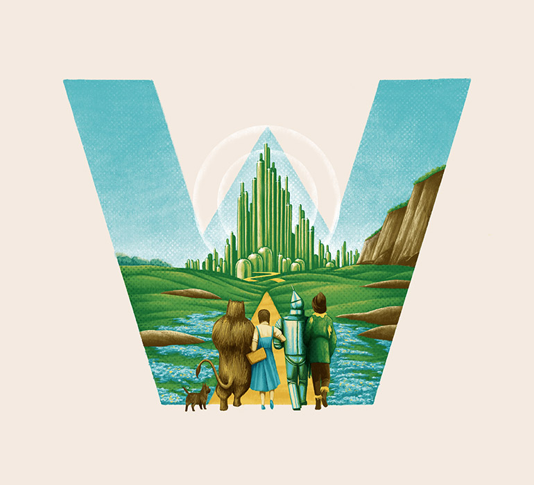 W is for The Wizard Of Oz