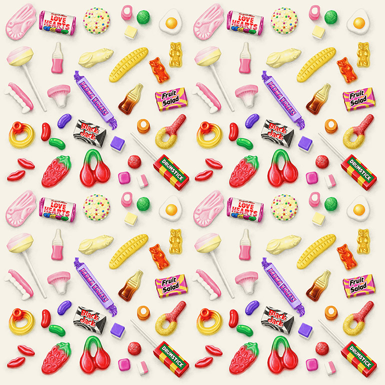 Pick N Mix repeated pattern